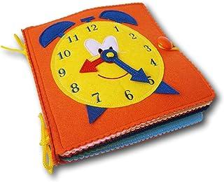 comprar comparacion Quiet Book-Libro sensorial de fieltro para el desarrollo de habilidades motoras de los niños pequeños. Libro tela - Libro ...
