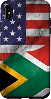 iPhone XS Max USA and South Africa Yin Yang - South African American Flag Case