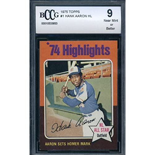 Hank Aaron Baseball Card Amazoncom