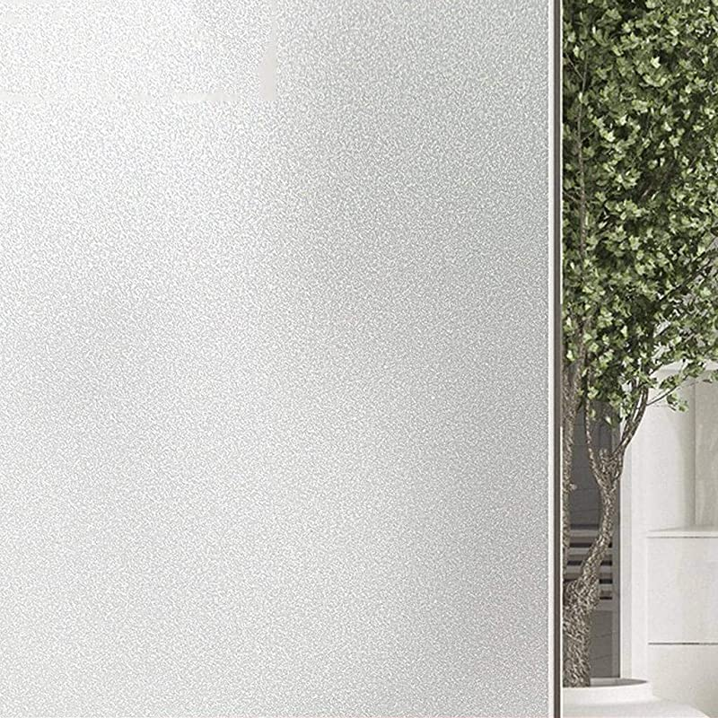Window Films Static Cling Window Privacy Protection Glass Film Opaque Household Bathroom Living Room Office Frosted Non Adhesive Window Films B 120x500Cm 47x197Inch