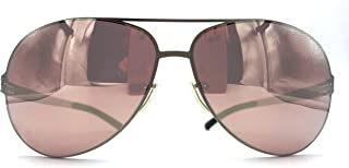 ic! berlin Raf S, Golf Collection, Photochromic Performance Lenses, Stainless Steel Unbreakable Frame in Silver Pearl with Copper Mirrored Lenses