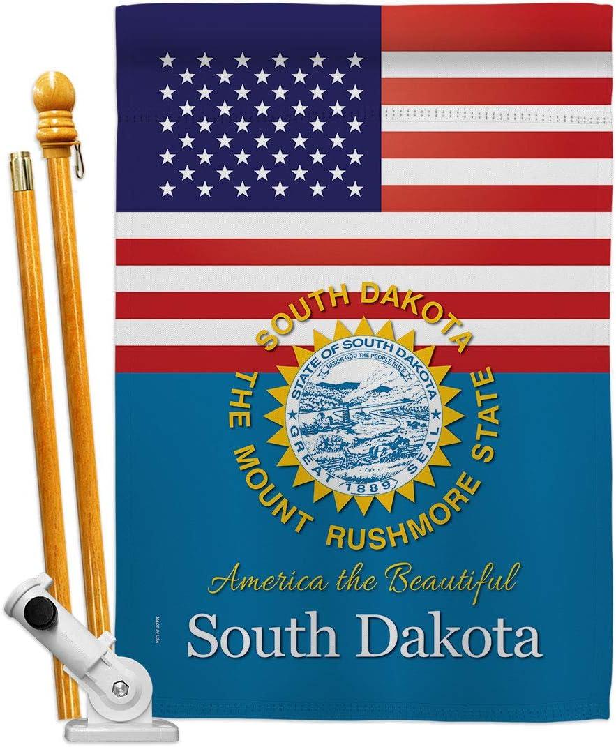 新品■送料無料■ States US South Dakota House セール価格 Flag Set Terr Regional American USA