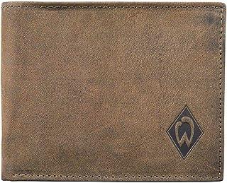 Werder Bremen Unisex – Erwachsene Fanartikel-Ledergeldbörse Raute-Portemonnaie, braun, S