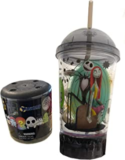 Halloweentown Jack's Light Up Cup Nightmare Before Christmas Jack Skellington Our Town of Halloween Light Up Tumbler Cup with lid and straw + Bonus Mini soft NBC Character Figure