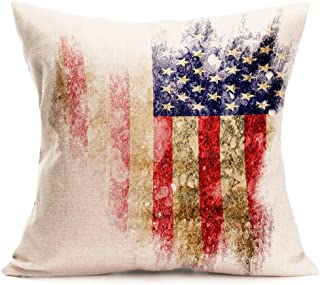 OTTATAT Happy Labor Day American Independence Day Newest Pillowcases Cover Size Designer Teal sham Blue Gold Pillowcases red Yellow Body Oversized Bed 20x20 Pink Cute Turquoise