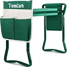 TomCare Garden Kneeler Seat Garden Bench Garden Stools Foldable Stool with Tool Bag Pouch EVA Foam Pad Outdoor Portable Kn...