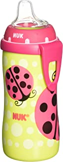 NUK Turtle & Ladybug Silicone Spout Active Cup in Assorted Colors and Patterns, 10-Ounce