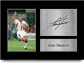 HWC Trading A4 Alan Shearer England Geschenken Gedrukt Gesigneerd Autograph Foto voor Voetbalfans en Supporters