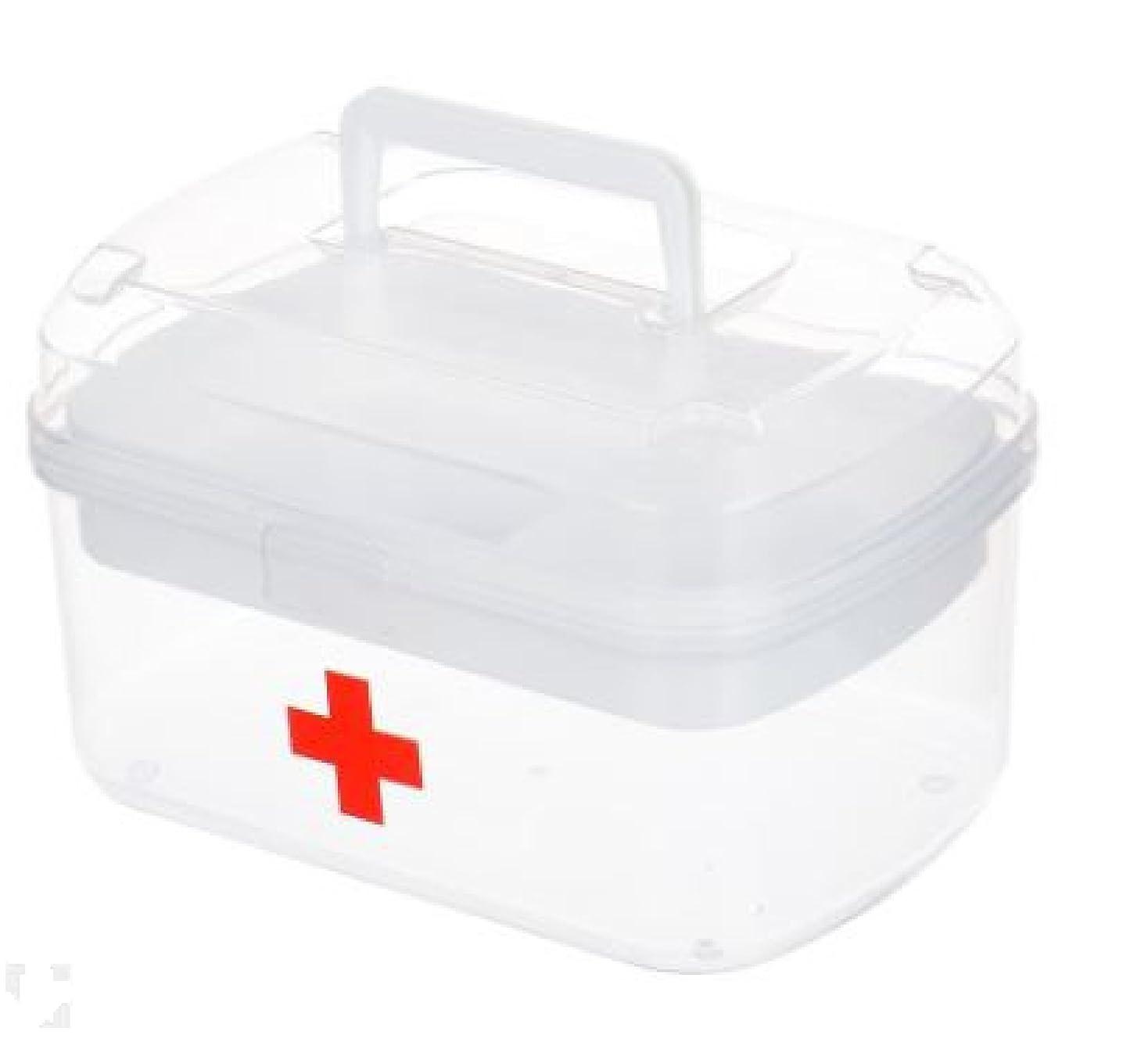 歪める禁止とげ持ち運び 救急箱 応急処置 収納ケース 大容量 薬箱 櫻文庫