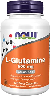 NOW Supplements, L-Glutamine 500 mg, Nitrogen Transporter, Amino Acid, 120 Veg Capsules