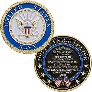 flag connections United States Navy Challenge Coin with Prayer 1-Pack (One Coin)
