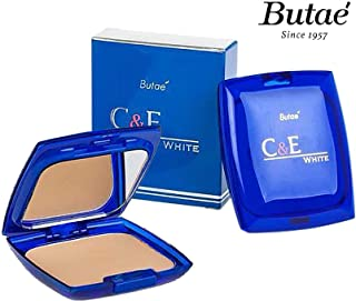 C & E White Face Pressed Powder Foundation Compact, Natural Radiant Glowing Perfect Skin, Covers Dark Spot & Wrinkle, Long Lasting Oil Control, Clean Matte Makeup No.1 Soft Beige 12 G./0.42 OZ