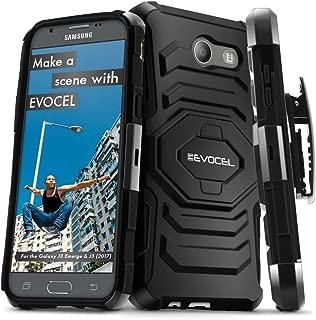 Galaxy J3 (2017) / J3 Prime / J3 Luna Pro Case, Evocel [New Generation Series] Belt Clip Holster, Kickstand, Dual Layer for Model No J327 / Sol 2 / Express Prime 2 / J3 Emerge/SM-J327, Black
