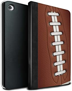 Tablet Case for Apple iPad Mini 4 Sports Balls American Football Design Flip Faux Book PU Leather Cover