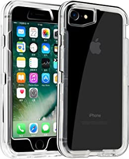 Phone Case for iPhone 6/6s Heavy Duty Hybrid Crystal ClearDual Layer Rugged Cover Shockproof Shell Hard PC & Soft TPU Bumper Reinforced Corners Protective Case Design for Apple iPhone 6/6s,Clear