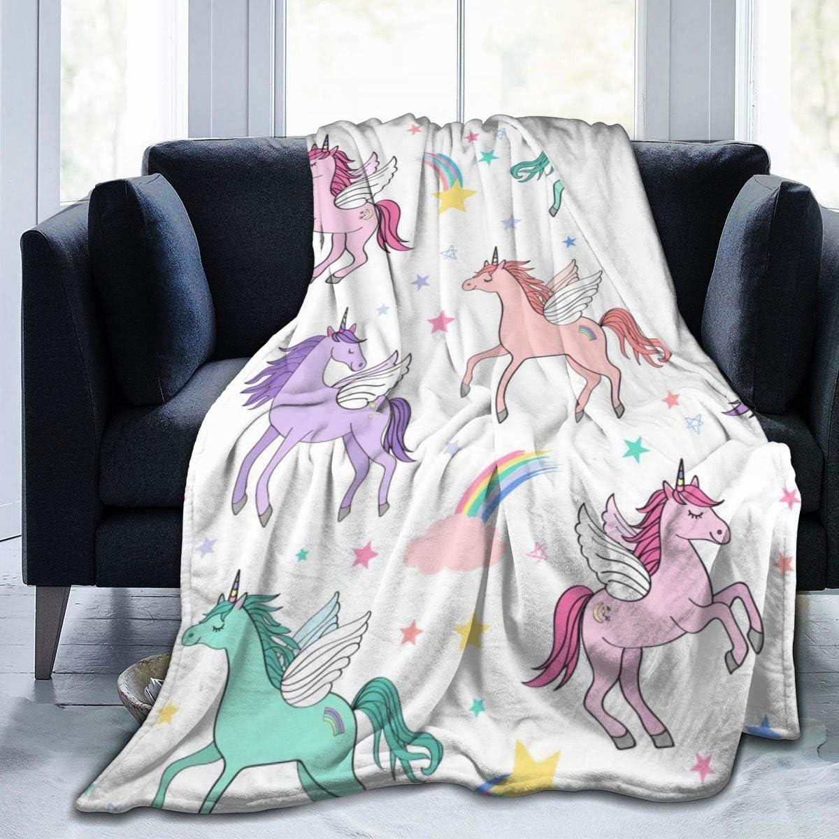 Fleece Plush Throw Blanket Comforter 高額売筋 I 新商品!新型 Pegacorns Flying Unicorns