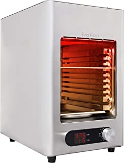 Ivation Electric Infrared Steak Grill | Indoor/Outdoor Broiler Oven with LED Display, Time/Temperature Knob, Grill Plate, ...