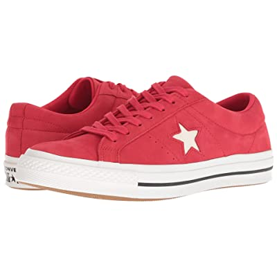 Converse One Star After Party (Cherry Red/Vintage White/Black) Lace up casual Shoes