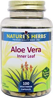 Nature's Herbs, Aloe Vera, Inner Leaf, 100 Veggie Caps - 2pc