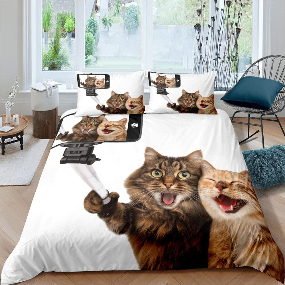 Superior JTBDWOSK Children Duvet Covers King Cute - Super Cat Beds Special price Animal