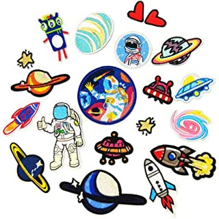 Iron On Patches - DIY Sew Decoration Appliques Stickers Embroidery Patches Cloth, Repair The Hole Stick (18 Pcs)