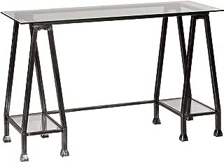 Southern Enterprises A Frame Glass Writing Desk 48