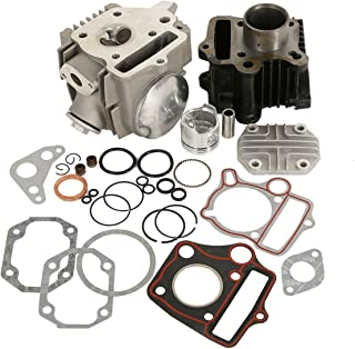 XMT-MOTO 39mm Bore Cylinder Head Piston Engine Rebuild Kit For Honda Z50R XR50 CRF50 50CC