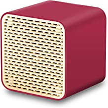 Bluetooth Speakers, LFS Portable Wireless Speaker,Square Mini Speaker with 5W Loud Sound, Rich Bass, Built-in Speakerphone,TWS Supported,Compatible with iPhone Ipad Android Smartphone and More(Red)