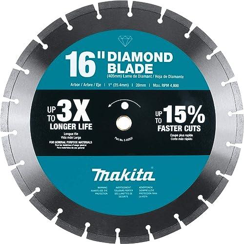 "lowest Makita E-02537 16"" high quality Diamond 2021 Blade, Segmented, General Purpose outlet sale"