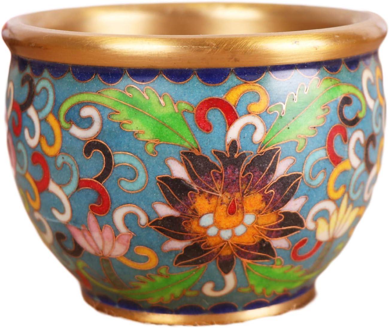 Classic LAOJUNLU Pure Copper Jucai Lucky Burnt Cylinder Cloisonne Trust