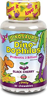 Kal - Dinosaurs DinoDophilus Probiotic For Kids 2 Billion CFU - 60 Chewable Tablets