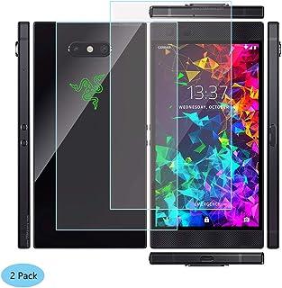 YZKJ 2 stycken pansarglas skyddsfolie för Razer Phone 2, 9H hårdhet ultratydligt härdat glas displayskydd, oljebeständigt ...