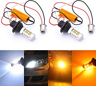KaTur BAU15S 7507 PY21W 1056 5009 White/Amber Switchback LED Turn Signal Light Canbus Error