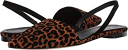 Camel/Black Flocked Leopard