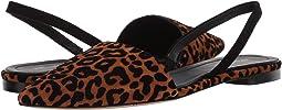 Camel/Black Flocked Leopard