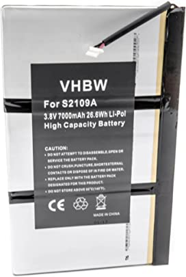 vhbw Li-Polymer Akku 7000mAh  3 7V  f r Notebook  Laptop Medion LifeTab MD99100  MD99101  MD99200  P9516  S9512 wie 40042073  AE2865B33  UP110005