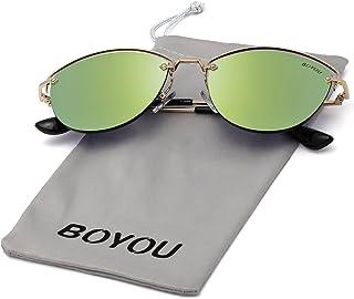 14e145371d BOYOU Gafas de sol retro estilo aviador retro estilo completo con protección  UV400