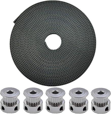 Aluminum 3D Printer 2GT-20 Tooth Timing Belt Drive Idler Pulley Gear Wheel 5Pcs