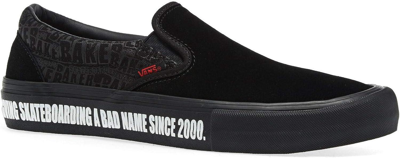 マーケティング Vans Men Women X Baker Slip Black Pro on SALE Shoes VN0A347VV0H 8.0