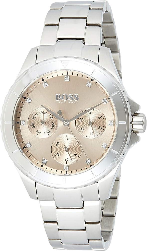 Hugo boss orologio multi-quadrante donna con cinturino in acciaio inox 1502444