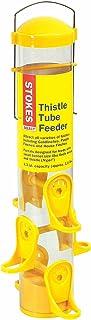 Stokes Select Thistle Tube Bird Feeder with Six Feeding Ports, Yellow, 1.6 lb Capacity - 38224, small