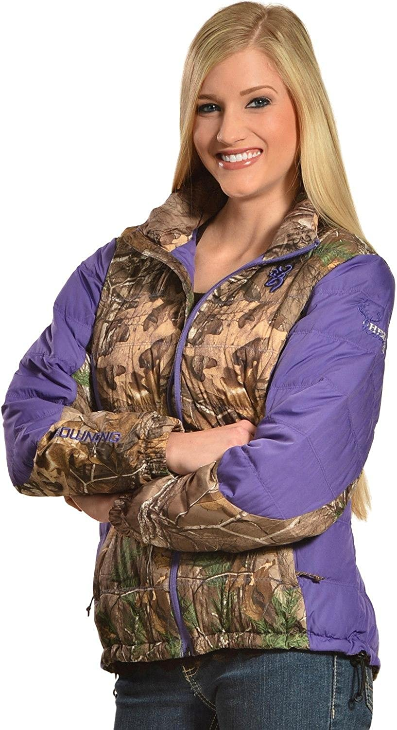Browning Women's Hell's Belles Plum And Camo Blended Down Jacket  30461824P2