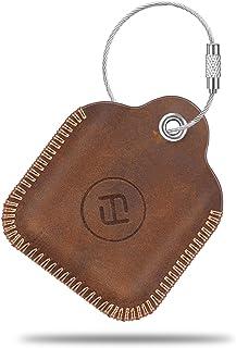 Fintie Genuine Leather Case for Tile Mate/Tile Pro/Tile Sport/Tile Style/Cube Pro Key Finder Phone Finder, Anti-Scratch Pr...