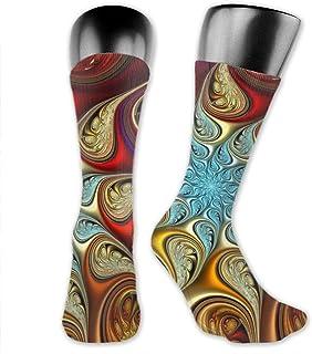 Inner-shop, Niños Niñas Paisley Tie Dye Calcetines deportivos Calcetines altos hasta el tobillo Medias de compresión por debajo de la rodilla Calcetines divertidos casuales a media pierna