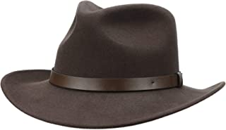 Jack&Arrow Cowboy Hat Men Wool Felt Brown Western Outback Gambler Wide Brim Adjustable Sizes Crushable