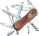 Victorinox Holz Taschenmesser Evolution Wood 17 (13 Funktionen, Holzsäge, Korke