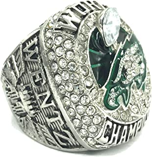 AMOH JERCY 2017-2018 New Philadelphia Eagles Football Super Bowl LII World Foles and Wentz Championship Replica Ring with Velvet Pouch