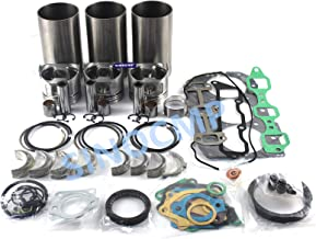 3TNV82 3TNV82A Engine Rebuilt Kit - SINOCMP Excavator Parts for Yanmar VIO35 Mini Excavator, 3 Month Warranty
