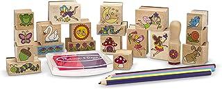 Melissa & Doug |Tampons pour enfants | Jeu de timbres en bois | Jardin Féerique