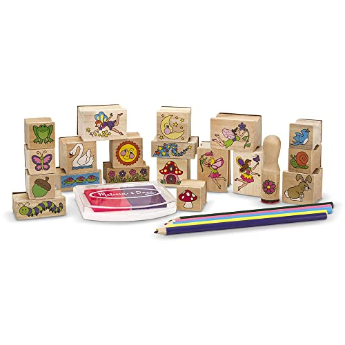 Melissa Doug Stamp A Scene Wooden Set Fairy Garden 20